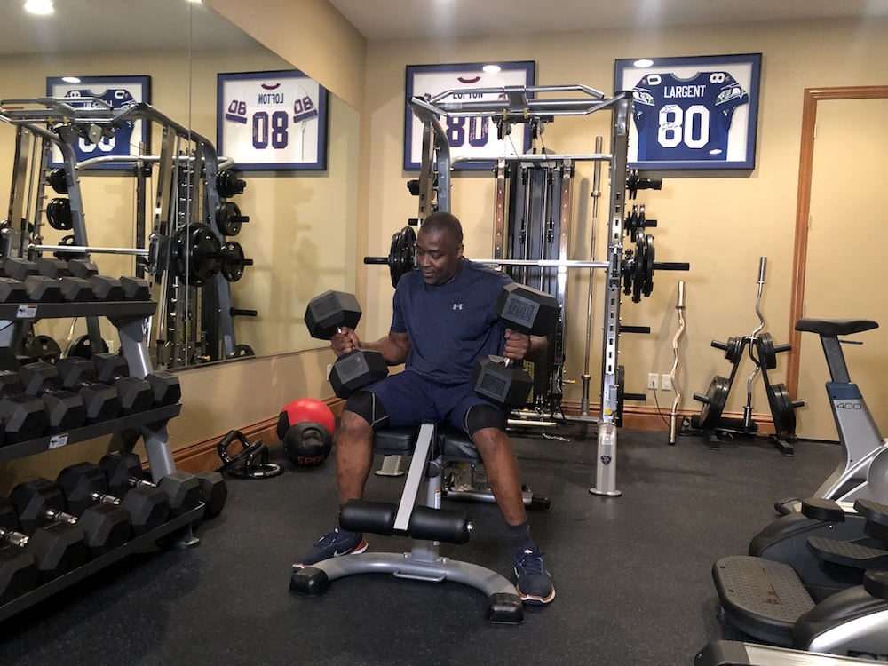 Rod Smith Dumbbell Workout - Home Gym